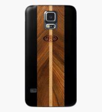 Rocky Point Hawaiian Faux Wood Surfboard - Black Case/Skin for Samsung Galaxy