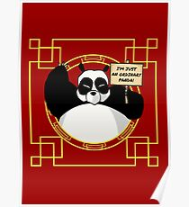 I'm just an ordinary panda! Poster