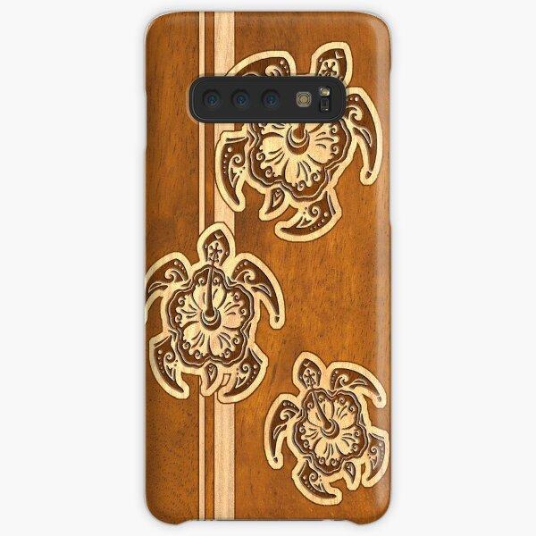 Uhane Honu Faux Wood Hawaiian Turtle Samsung Galaxy Snap Case