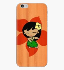 Aloha Honeys Hawaiian Hibiscus Hula Girl - Papaya iPhone Case