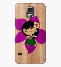 Aloha Honeys Hawaiian Hibiscus Hula Girl - Violet Case/Skin for Samsung Galaxy