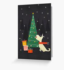 White Christmas Westie Greeting Card