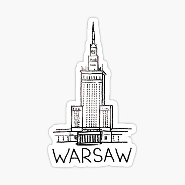 Warsaw Poland Sticker