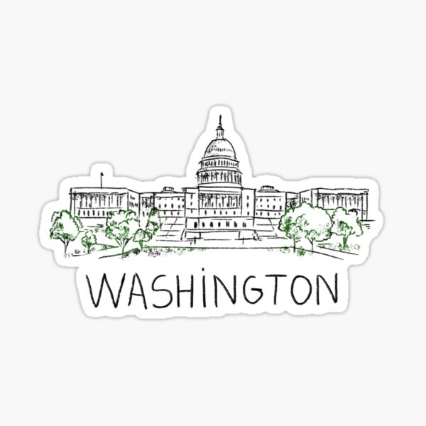 Washington DC USA Sticker