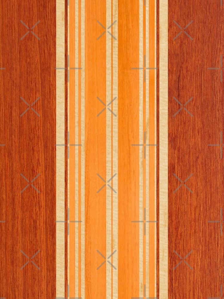 Nalu Lua Faux Hawaiian Koa Wood Surfboard - Amber by DriveIndustries