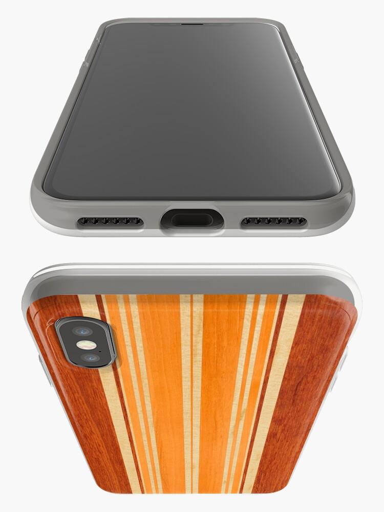 Alternate view of Nalu Lua Faux Hawaiian Koa Wood Surfboard - Amber iPhone Cases & Covers