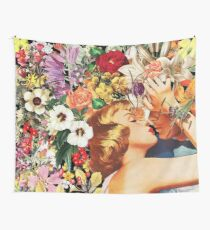 Floral Bed Wall Tapestry