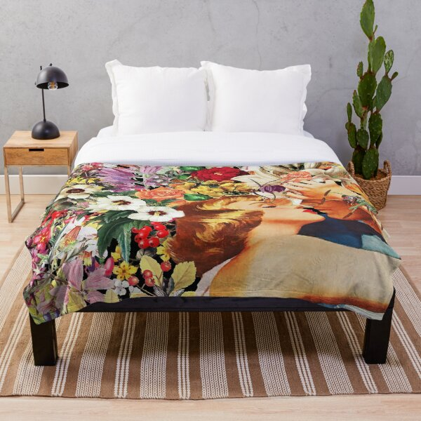 Floral Bed Throw Blanket