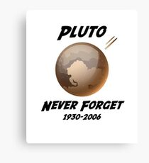 Never Forget Pluto 1930-2006 Canvas Print