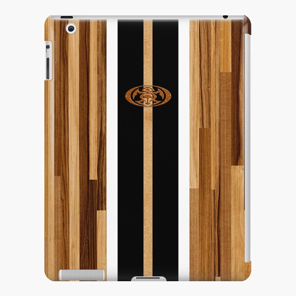 Tabla de surf de madera sintética con diseño hawaiano Rocky Point - Negro Funda y vinilo para iPad