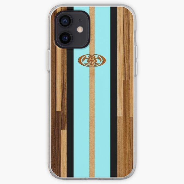 Rocky Point Hawaiian planche de surf en faux bois - Aqua Coque souple iPhone