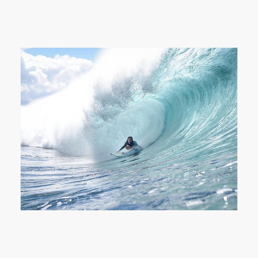 Surf Legend Rochelle Ballard Surfing Hawaiian Wave  Photographic Print