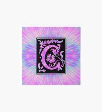 Lámina de exposición Letra rosa c inicial