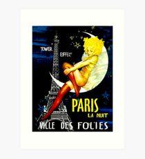"""PARIS"" Vintage Follies Reisedruck Kunstdruck"
