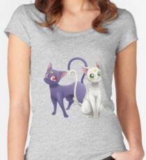 Luna & Artemis (Sailor Moon Crystal edit.) Women's Fitted Scoop T-Shirt
