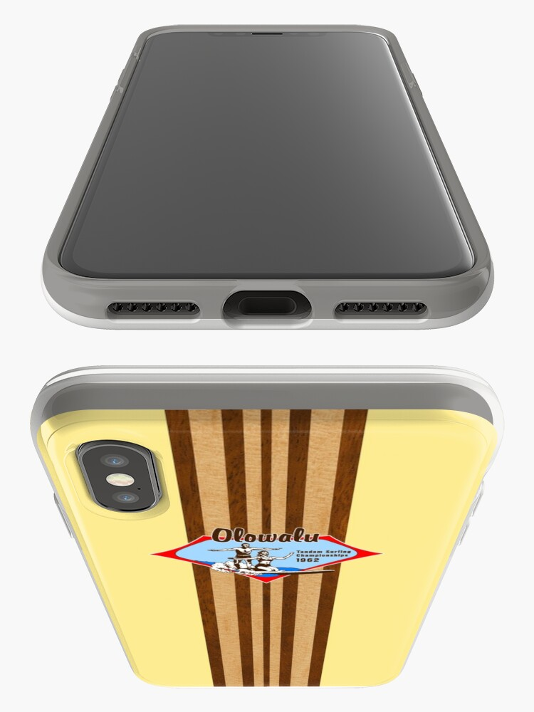 Alternate view of Tandem Surfing Hawaiian Vintage Surf Design  - Yellow iPhone Cases & Covers