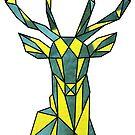 Geometric Deer (GunMetal+TowerFish) by KineticZen