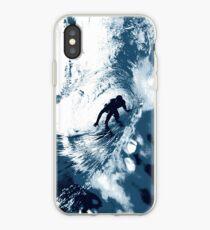 Boarding Trybe Tube, Hawaiian Surf Graphic - Navy Blue iPhone Case