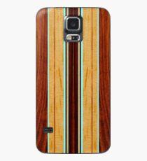 Nalu Hou Faux Koa Wood Hawaiian Surfboard - Aqua Case/Skin for Samsung Galaxy