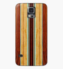 Nalu Hou Faux Koa Holz Hawaii Surfbrett - Aqua Hülle & Klebefolie für Samsung Galaxy