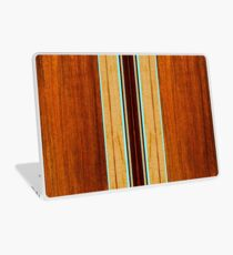 Nalu Hou Faux Koa Wood Hawaiian Surfboard - Aqua Laptop Skin