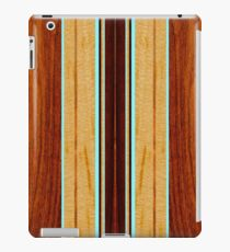 Nalu Hou Faux Koa Wood Hawaiian Surfboard - Aqua iPad Case/Skin