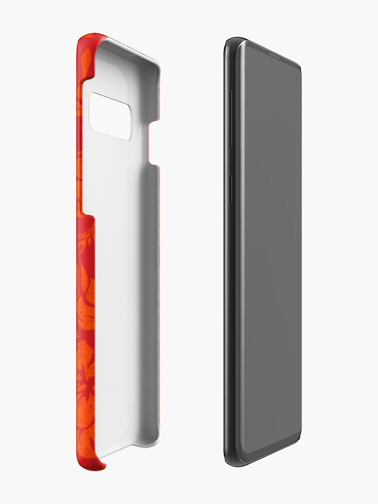 Vista alternativa de Funda y vinilo para Samsung Galaxy Tabla de surf Hawaii Beach Faux Koa de Sunset Beach - Rojo