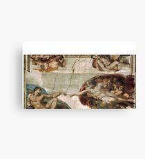 Creation of Adam by Michelangelo Canvas Print