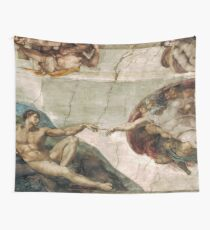 Creation of Adam by Michelangelo Wall Tapestry