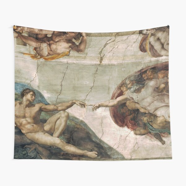 Creation of Adam by Michelangelo Tapestry