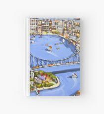 Under the bridge Hardcover Journal