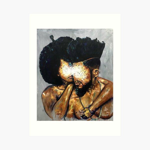 Naturally Black Love V Art Print