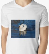 Mute Swan On The River Men's V-Neck T-Shirt