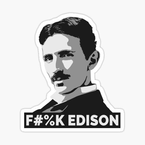 Nikola Tesla (is a Boss) Sticker