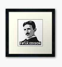 Nikola Tesla (is a Boss) Framed Print