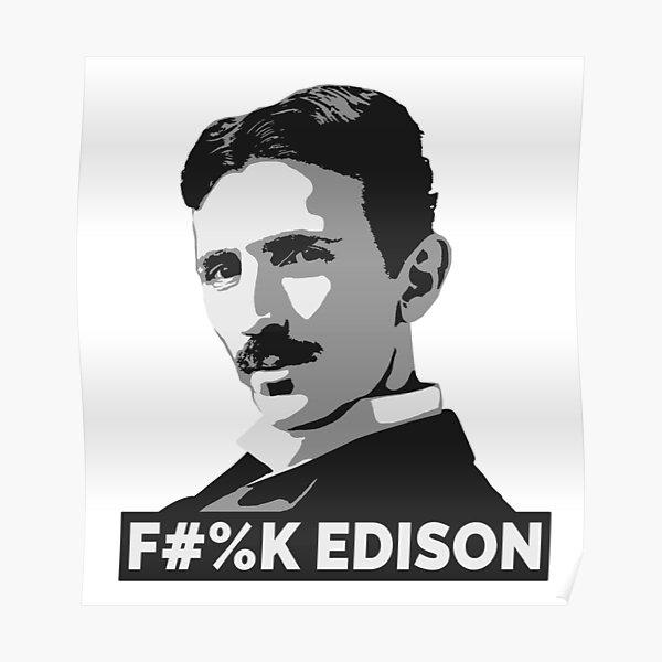 Nikola Tesla (is a Boss) Poster