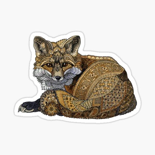 Fox Kit Tangle Sticker
