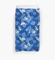 Kona Bay Hawaiian Hibiscus Aloha Shirt Print - Royal Blue Duvet Cover