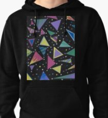 Rad 80s Abstract Geometric Design Pullover Hoodie