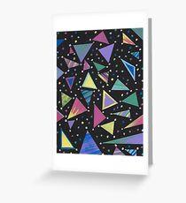 Rad 80s Abstract Geometric Design Greeting Card