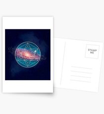 Andromeda Geometry Galaxy, Outer Space, Geometric Mandala, Science Postcards