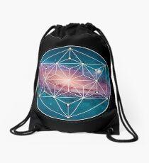 Andromeda Geometry Galaxy, Outer Space, Geometric Mandala, Science Drawstring Bag