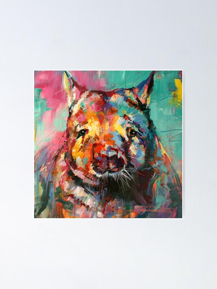 Alternate view of Wombat Poster