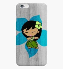 Aloha Honeys Hawaiian Hibiscus Hula Girl - Turquoise iPhone 6 Case