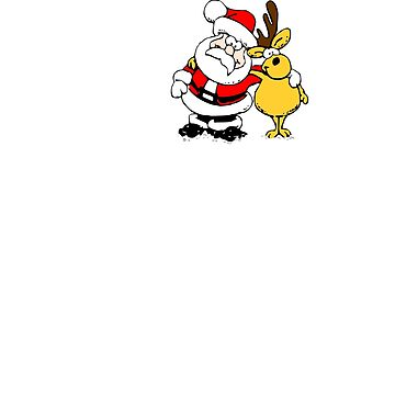 Ho Ho Ho Santa Christmas by AjHound