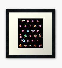 Kirby Pattern Framed Print