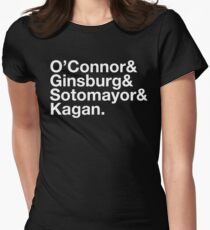 US SUPREME COURT, Female Justices, Ruth Bader Ginsburg Women's Fitted T-Shirt