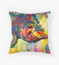 Duck-Billed Platypus - Australian mammal Throw Pillow