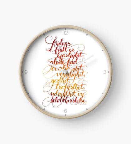 Åndens frukt Clock