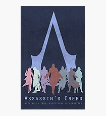 Assassin's Creed Game Poster  Photographic Print